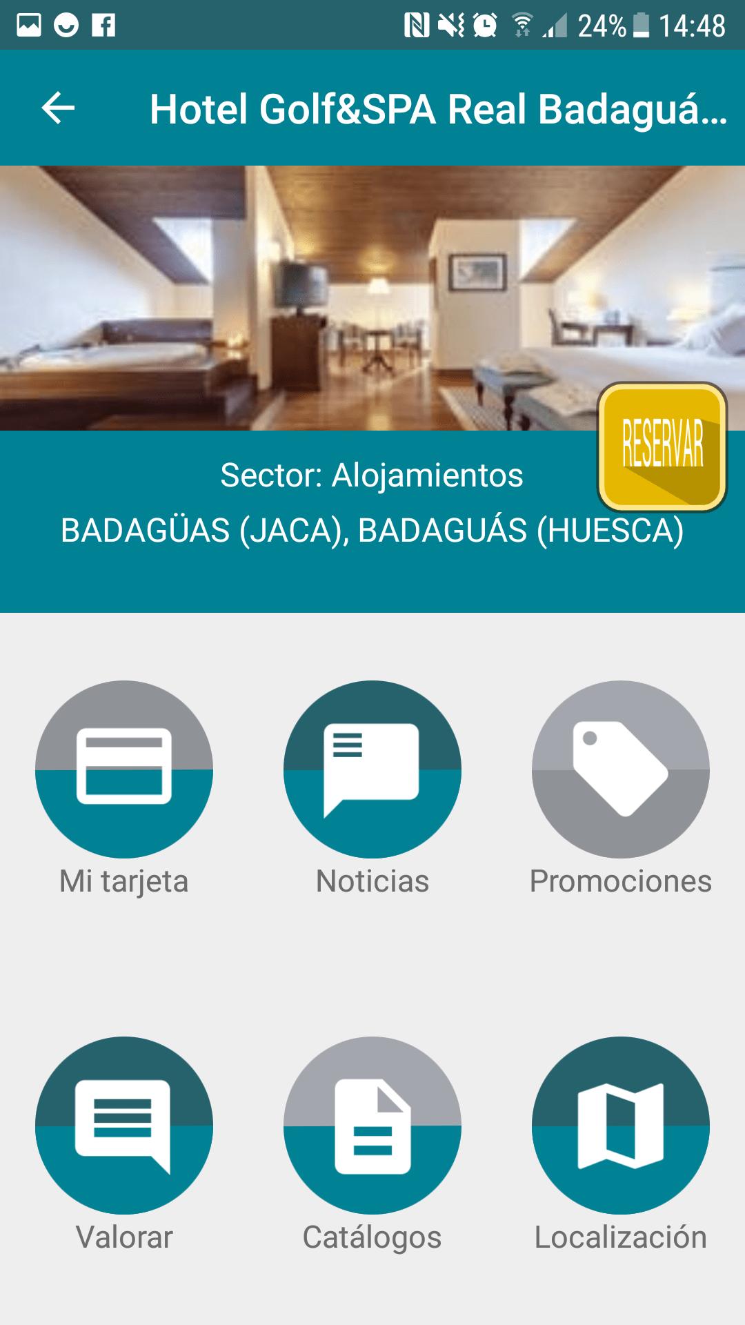 Aplicación móvil para hoteles - GIMH
